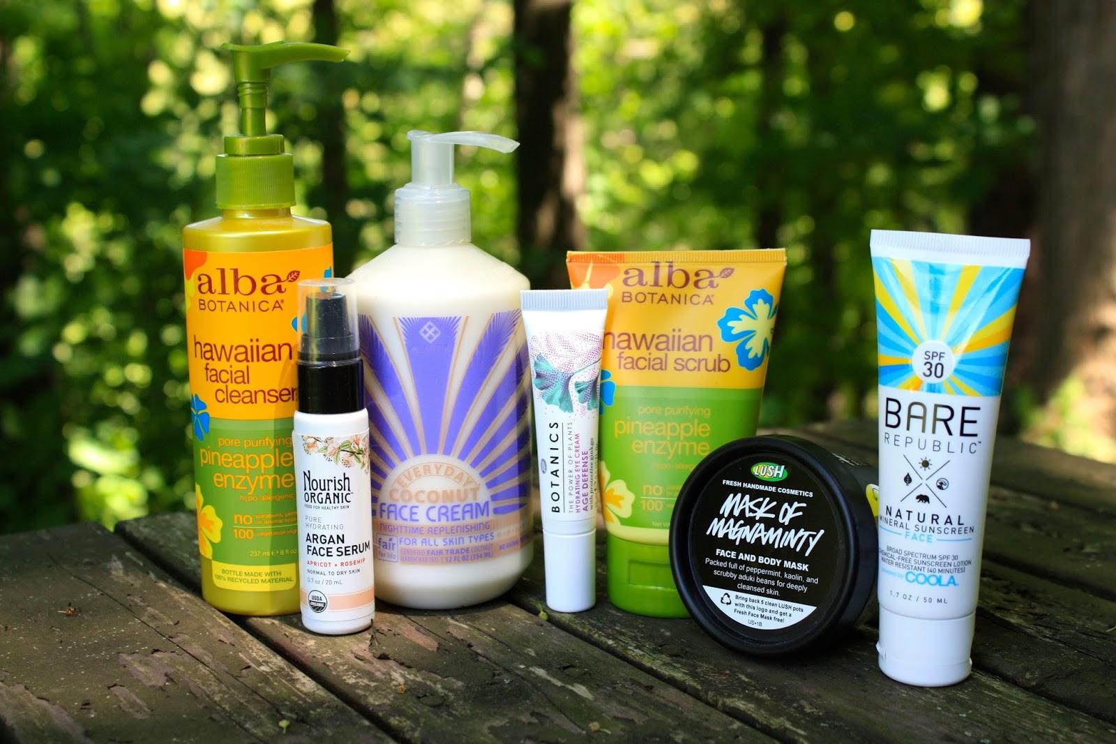 Summer skin care routine
